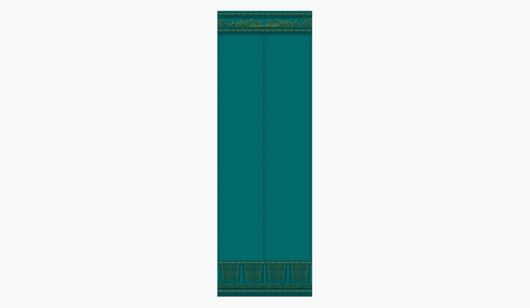 کاشی و سرامیک بوم سرامیک ، کاشی دیوار آریزو دکور ستونی آبی سایز 100*33 لعاب پانچ مات پخت سوم با زمینه کاغذ دیواری