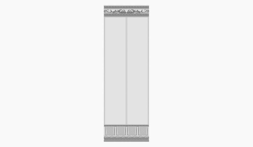کاشی و سرامیک بوم سرامیک ، کاشی دیوار آریزو دکور ستونی سفید سایز 100*33 لعاب پانچ مات پخت سوم با زمینه کاغذ دیواری