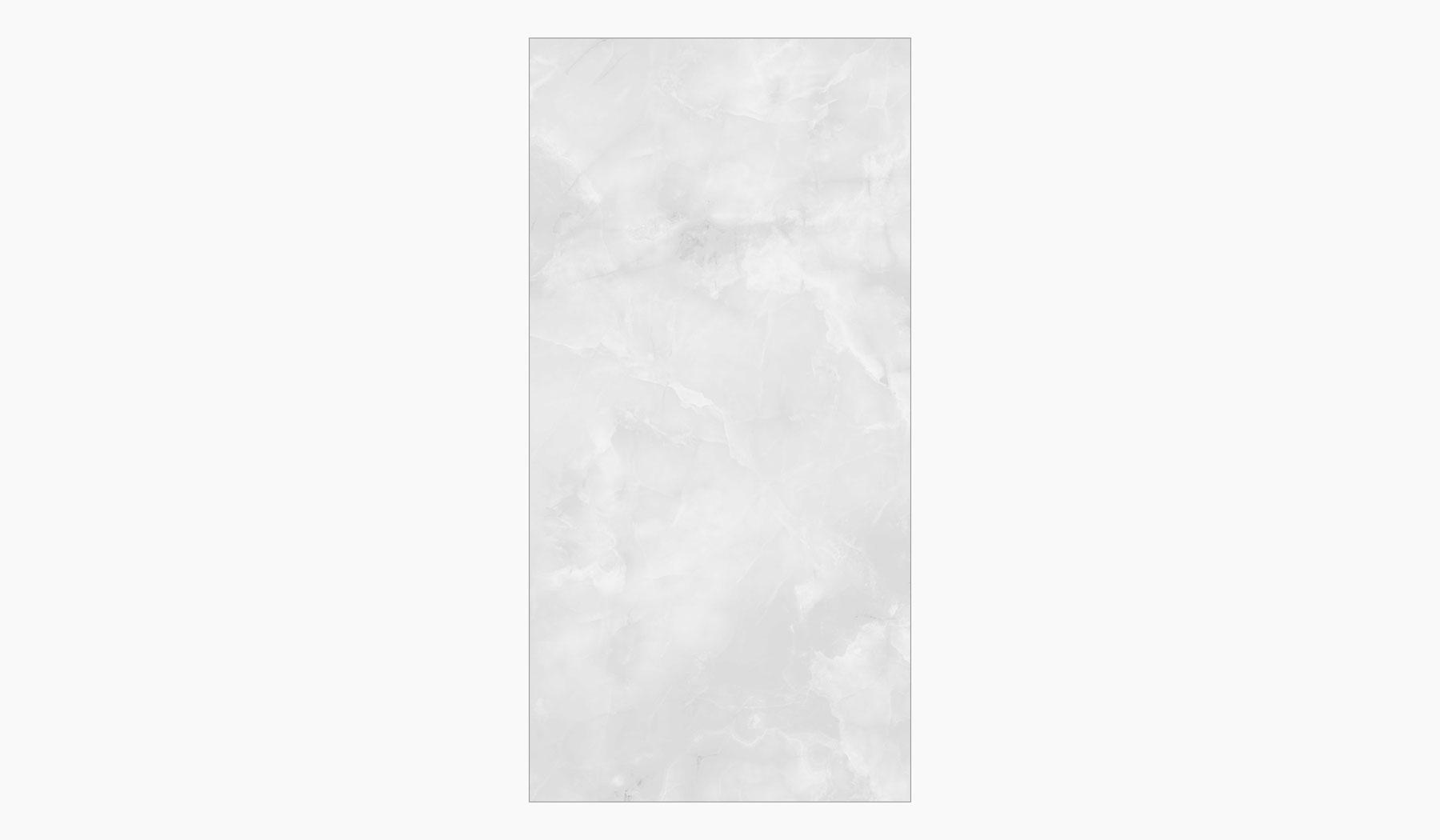 کاشی و سرامیک بوم سرامیک ، سرامیک پرسلان فوجی سفید سایز 60*120 لعاب براق صاف با زمینه سنگ