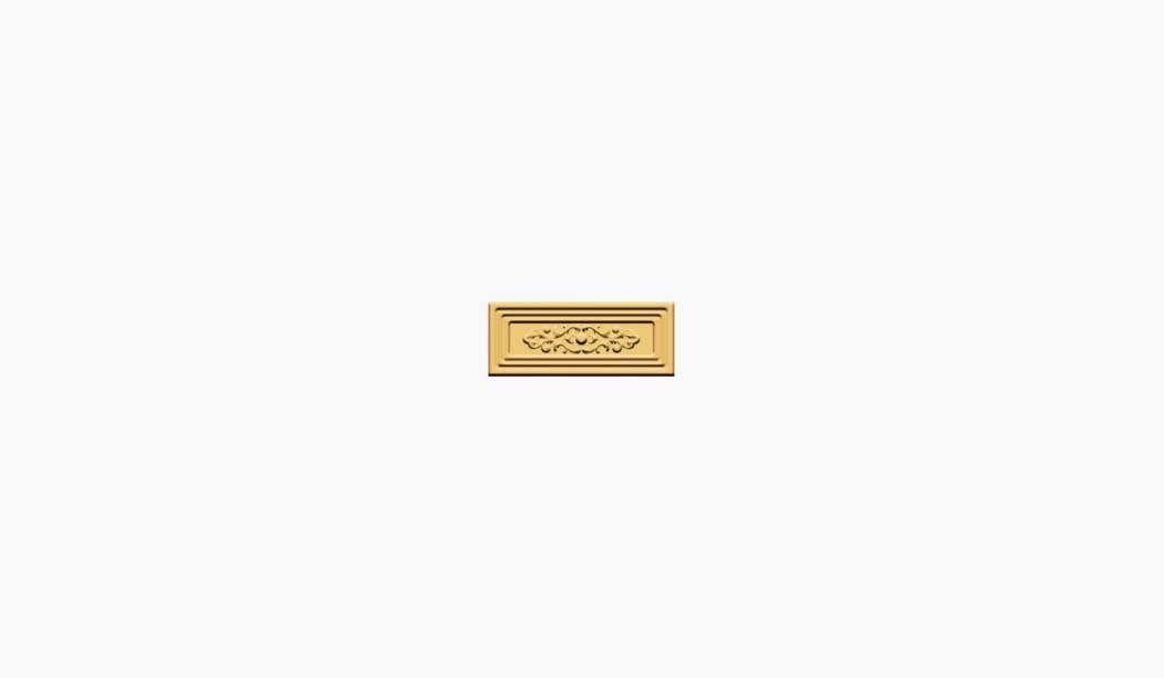 کاشی و سرامیک بوم سرامیک ، بردر دکوراتیو رزالیا باند طلایی سایز 30*12 لعاب پانچ براق پخت سوم با زمینه آبرنگی