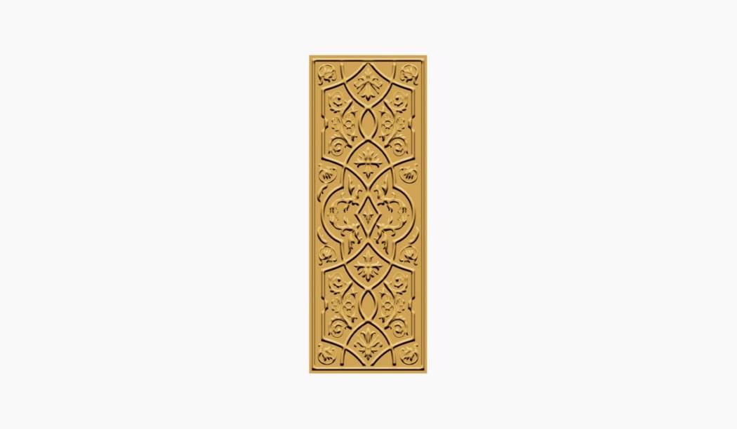 کاشی و سرامیک بوم سرامیک ، کاشی دکوراتیو رزالیا دکوراتیو طلایی سایز 75*30 لعاب پانچ براق پخت سوم با زمینه آبرنگی