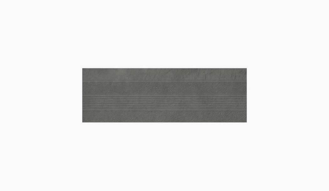 کاشی و سرامیک بوم سرامیک ، دکوراتیو دکور رینر طوسی سایز 90 * 30 لعاب نیمه مات پانچ عمیق با زمینه سیمانی