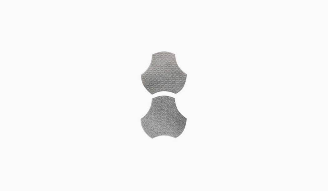 کاشی و سرامیک بوم سرامیک ، دکوراتیو سالسا موزاییکی طوسی تیره سایز 15 * 15 لعاب پانچ براق پخت سوم با زمینه فلزی