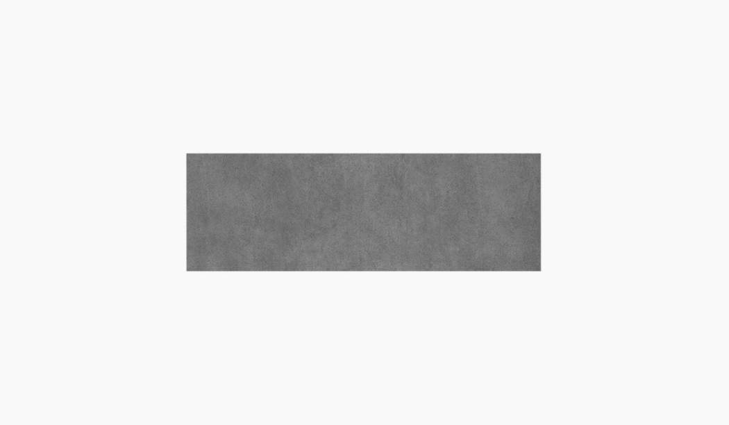 کاشی و سرامیک بوم سرامیک ، کاشی دیوار سالسا طوسی تیره سایز 90 * 30 لعاب مات صاف با زمینه سیمانی