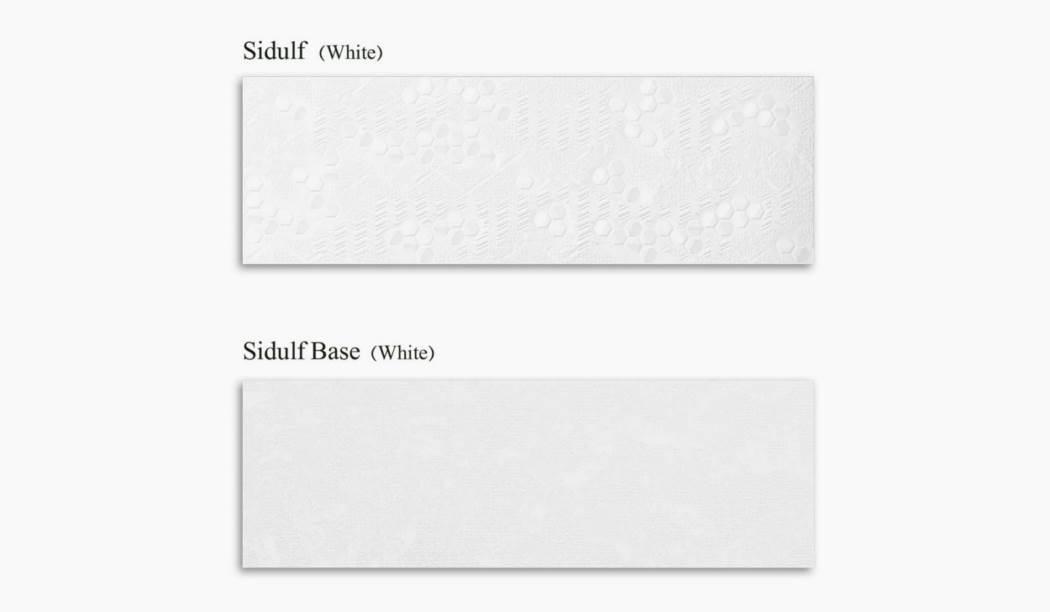 کاشی و سرامیک بوم سرامیک ، کاشی دیوار مجموعه سیدولف سفید سایز 30*90 لعاب مات رستیک با زمینه سیمانی